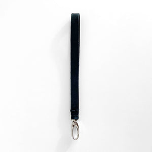 Leather Wrist Strap, Black