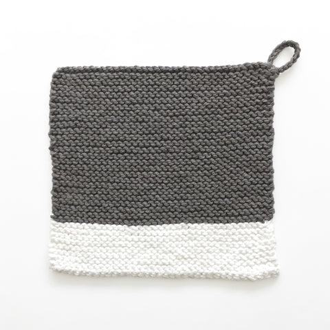Colour Chip Pot Holder/Dish Cloth, Grey