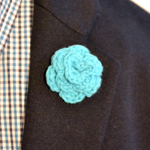 Lapel Bloom, Aqua