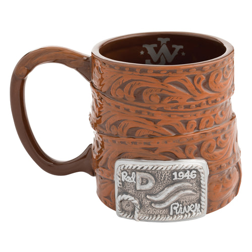 John Wayne Buckle 20 oz. Sculpted Ceramic Mug