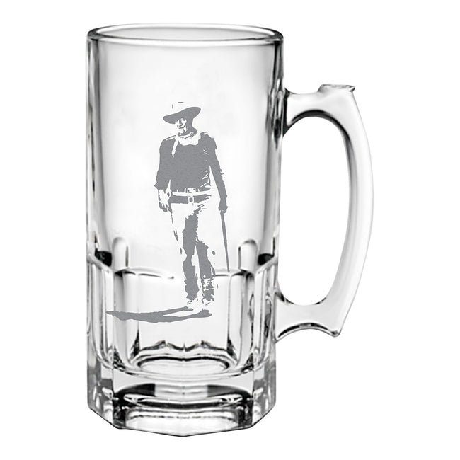 John Wayne Never Trust A Man 16 oz. Glass Stein