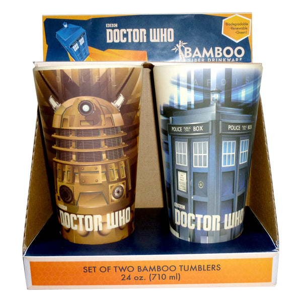 Doctor Who 2 pc. 24 oz. Bamboo Tumblers