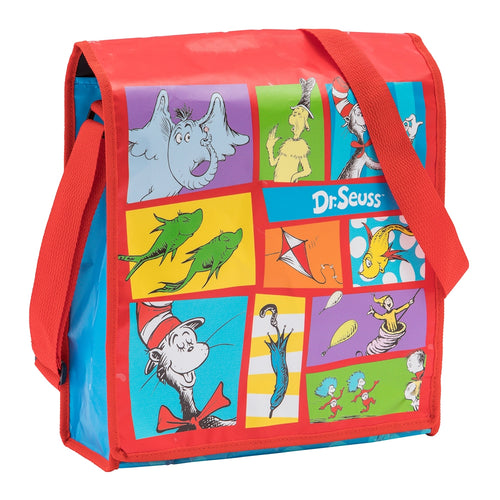 Dr. Seuss The Cat in the Hat Recycled Messenger Tote