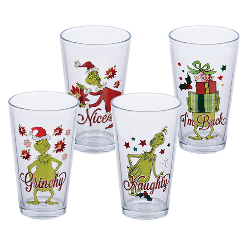 Dr. Seuss Grinchmas 16 oz. Glasses - Set of 4