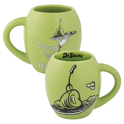 Dr. Seuss Green Eggs & Ham 18 oz. Oval Ceramic Mug