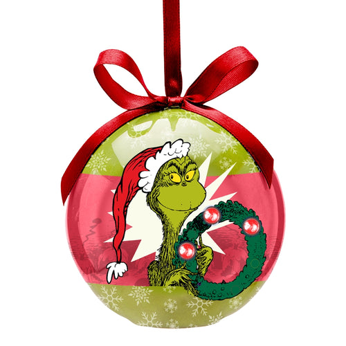 Dr. Seuss Merry Grinchmas LED Ball Ornament