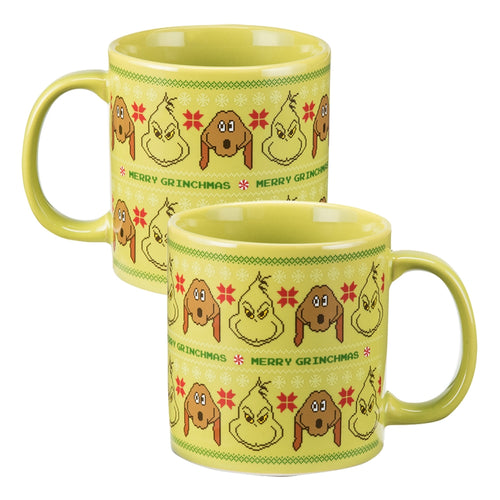 Dr. Seuss The Grinch Ugly Sweater 20 oz. Ceramic Mug