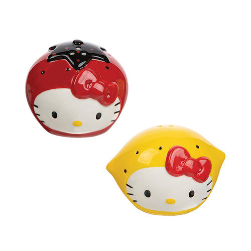 Hello Kitty I Love Strawberries & Lemons Sculpted Ceramic Salt & Pepper Set