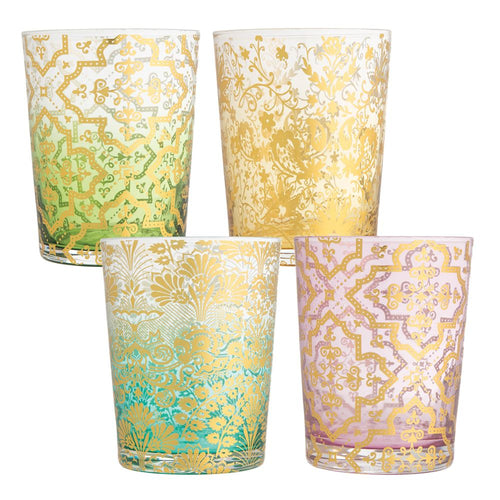 Ana Davis Lola Ombre 8 oz. Glasses - Set of 4