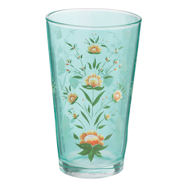 Ana Davis Camila Breeze & Flamingo 16 oz. Glass - Set of 2