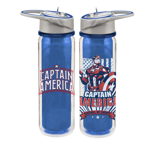 Marvel Captain America 16 oz. Tritan Water Bottle