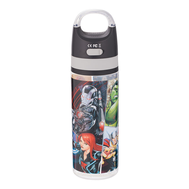 Marvel Avengers 18 oz. Tritan Water Bottle with Wireless Speaker