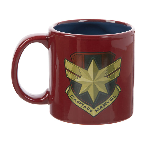 Captain Marvel Badge 20 oz. Bas Relief Ceramic Mug