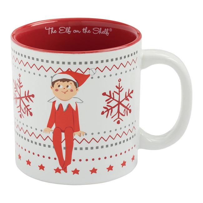 The Elf On The Shelf Ugly Sweater 20 oz. Ceramic Mug