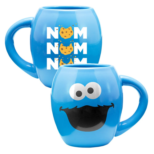 Sesame Street Cookie Monster 18 oz. Oval Ceramic Mug