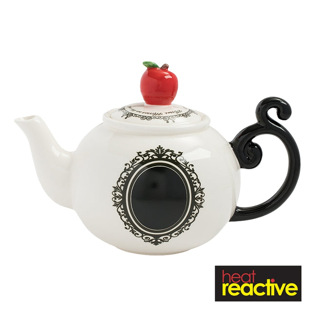 Snow White Heat Reactive Sculpted Ceramic Teapot