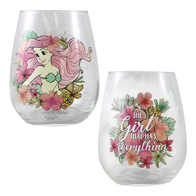 Disney Princess 4 pc. 18 oz. Contour Glass Set