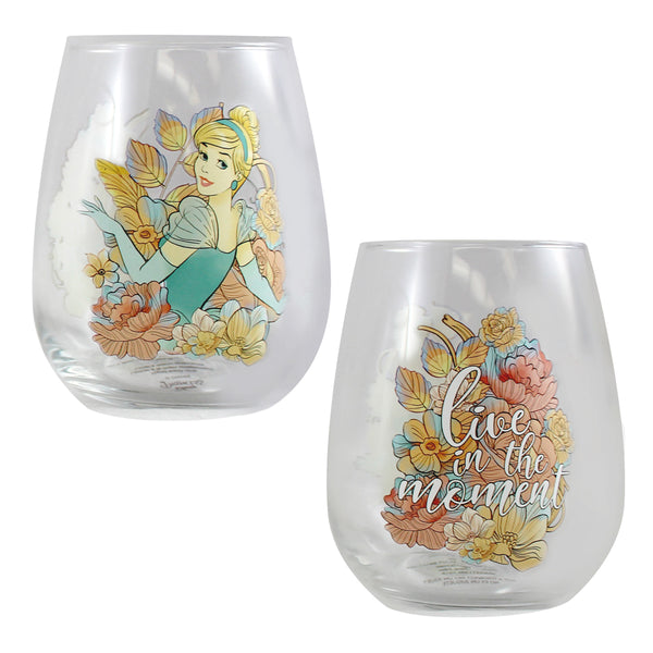 Disney Princess 18 oz. Contour Glass - Set of 4