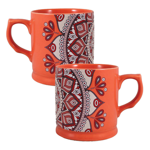Mandala Rose 12 oz. Refined Ceramic Mug