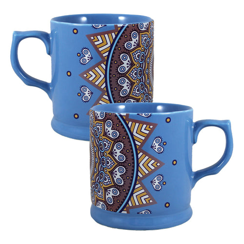 Mandala Blue 12 oz. Refined Ceramic Mug