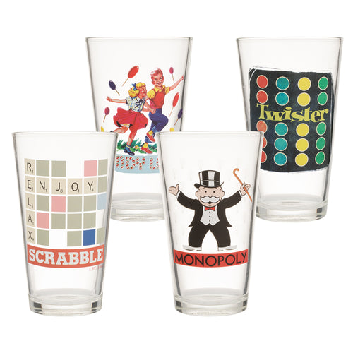 Hasbro Gaming 16 oz. Glasses - Set of 4