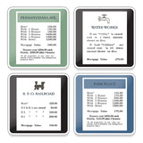 Hasbro Gaming Monopoly 4 pc. Ceramic Coaster Set