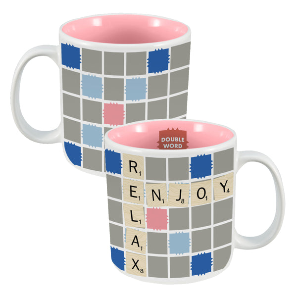 Hasbro Gaming Scrabble 20 oz. Ceramic Mug