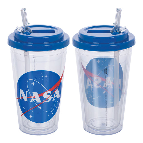 NASA 16 oz. Flip Straw Acrylic Cup