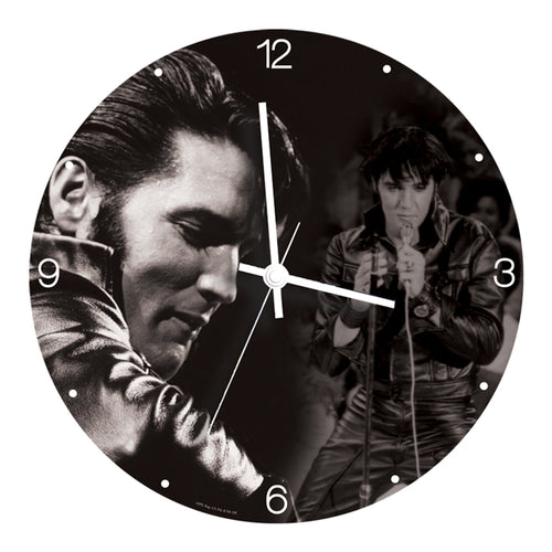 Elvis Presley 13.5 Cordless Wood Wall Clock
