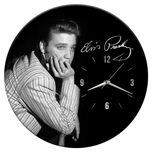 "Elvis Presley 13.5"" Wood Wall Clock"