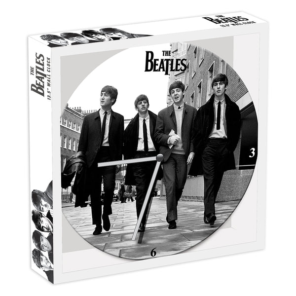 "The Beatles 13.5"" Cordless Wood Wall Clock"