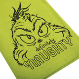 Dr. Seuss The Grinch Definitely Naughty Kitchen Towel