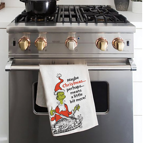 Dr. Seuss Grinch Christmas Turkey Kitchen Towel