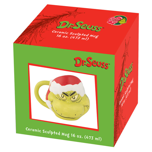 Dr. Seuss The Grinch Sculpted Ceramic Cookie Jar