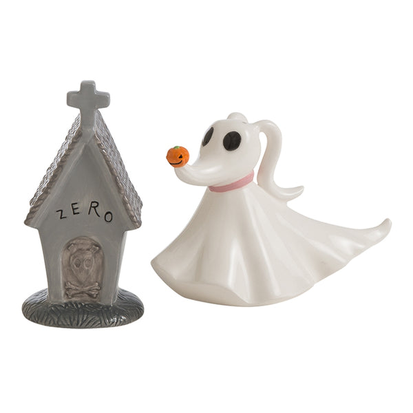 The Nightmare Before Sculpted Zero Ceramic Salt & Pepper Set
