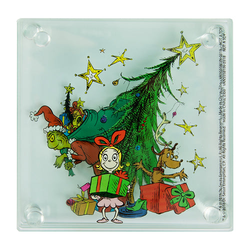 Dr. Seuss Grinchmas 4 pc. Stacking Glass Coaster Set