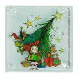 Dr. Seuss The Grinch 4 pc. Stacking Glass Coaster Set