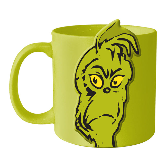 Dr. Seuss Grinchmas Resting Face 20 oz. Bas Relief Ceramic Mug