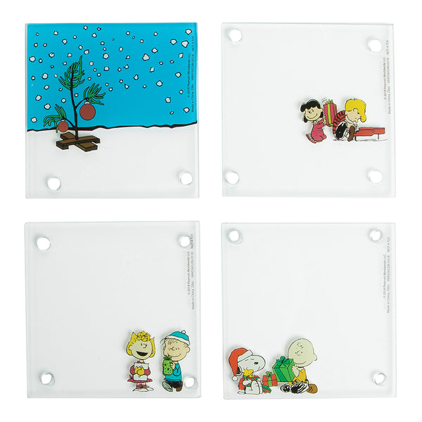 Peanuts 4 pc. Stacking Glass Coaster Set