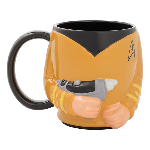 Star Trek Captain Kirk 18 oz. Sculpted Ceramic Mug