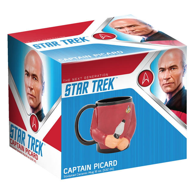 Star Trek Captain Picard 18 oz. Sculpted Ceramic Mug