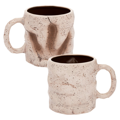 Dinosaur Footprint 20 oz. Sculpted Ceramic Mug
