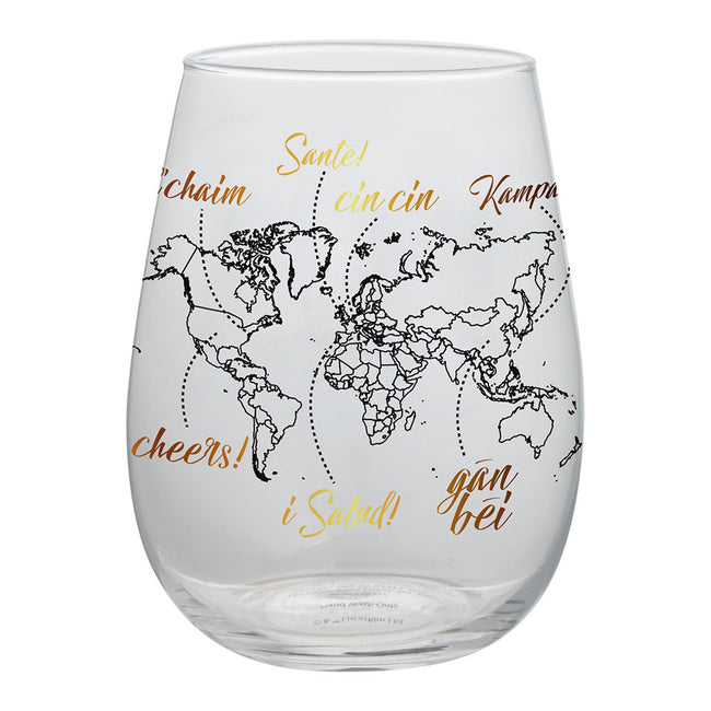 Global Cheers 18 oz. Contour Glasses - Set of 2