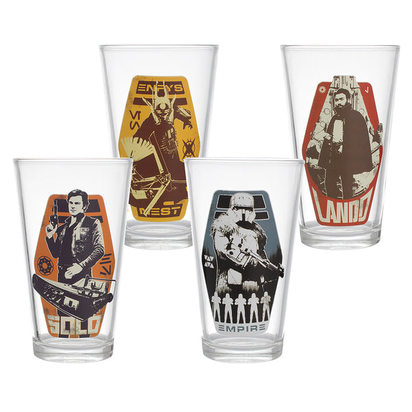 Star Wars Solo 4 pc. 16 oz. Glass Set