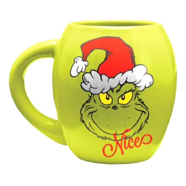 Dr. Seuss The Grinch Naughty & Nice 18 oz. Oval Ceramic Mug