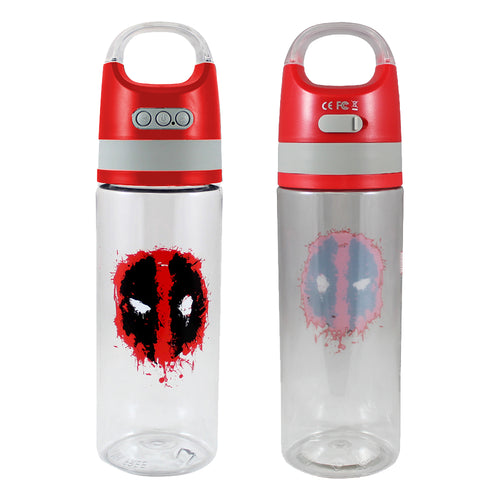 Marvel Deadpool 18 oz. Tritan Water Bottle with Wireless Speaker