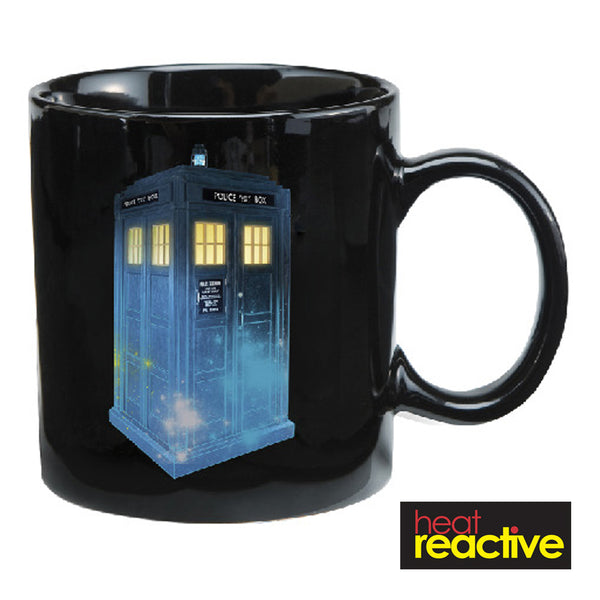 Doctor Who S11 Tardis Blue & Black 12 oz. Heat Reactive Ceramic Mug
