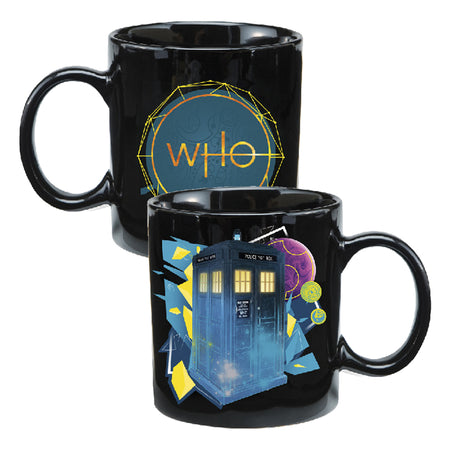 Doctor Who Weeping Angel Heat Reactive 20 oz. Ceramic Travel Mug