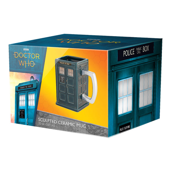 Doctor Who S11 Tardis 20 oz Ceramic Sculpted Mug