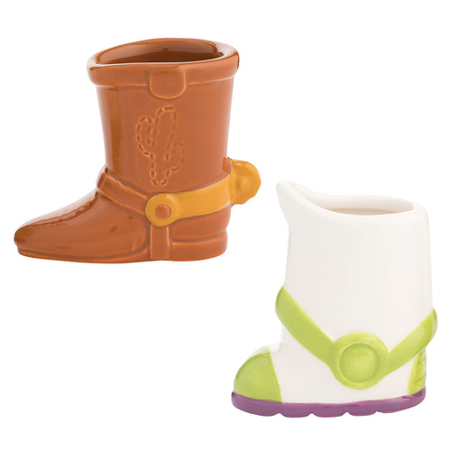 Disney Toy Story Woody & Buzz Boots Sculpted Ceramic Mini Drinkware - Set of 2